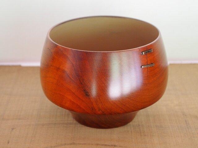真鍮鎹継茶椀(ブラックチェリー)の画像1枚目