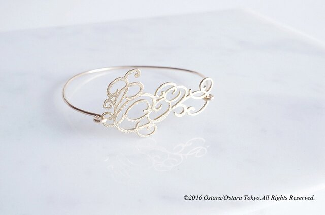 "【14KGF】Wire Bangle,Filigree""D""の画像1枚目"