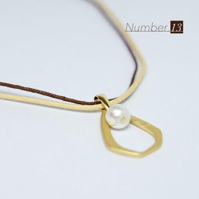 ドロップリングとコットンパールのネックレス【Hufu N8】の画像1枚目