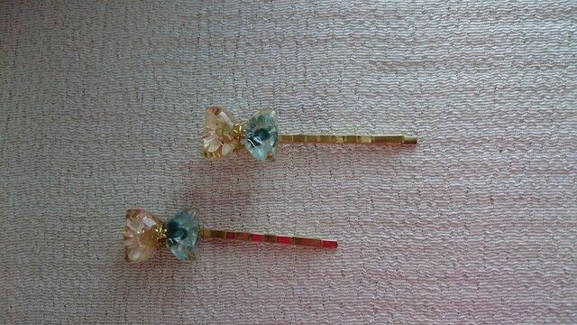 お花のヘアピン(2本入り)の画像1枚目