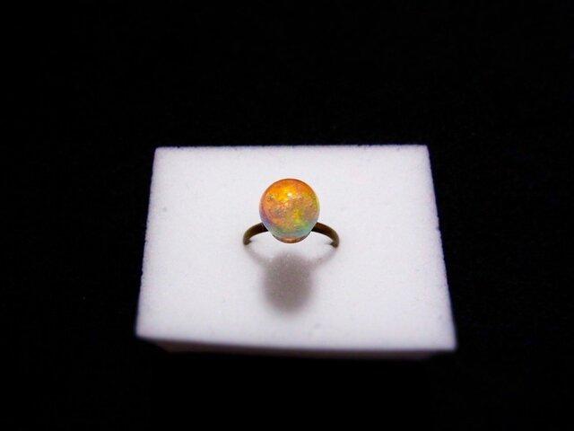 指輪 虹のしずく (1cm) 液体結晶の画像1枚目