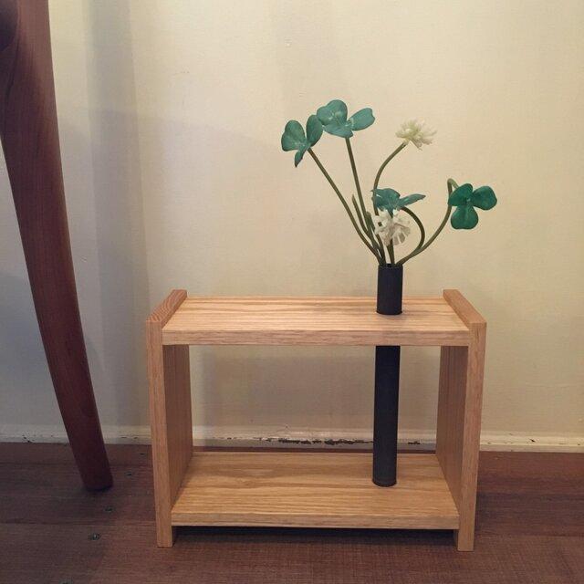 銅管の花器(BOX型)の画像1枚目