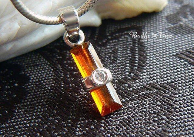 オレンジカイヤナイト(カヤナイト)&ジルコン・SVペンダントの画像1枚目