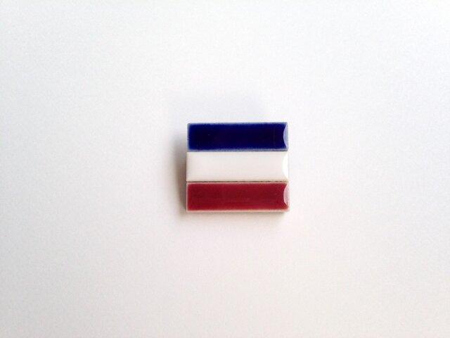 受注生産 ユーゴスラビア国旗のブローチの画像1枚目
