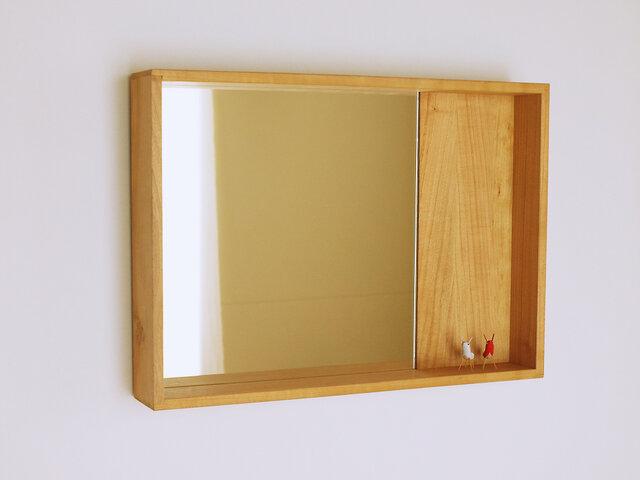 木製 箱鏡 桜材5の画像1枚目