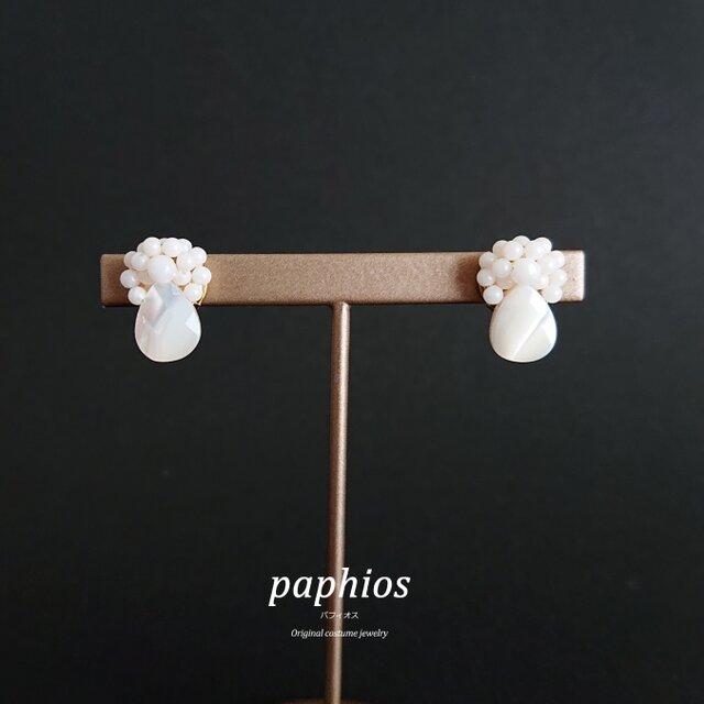 再々販[ピアス] tubutubu petit/whiteの画像1枚目