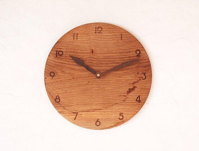 掛け時計 丸 楢(ナラ)材20の画像1枚目