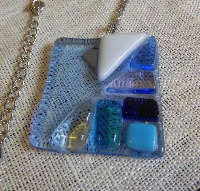 ガラスのネックレスmosaic1の画像1枚目