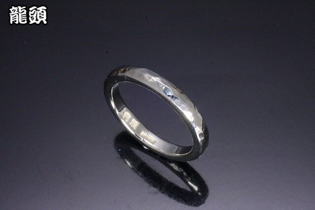 指輪 メンズ : 甲丸丸鎚目リング 4~27号の画像1枚目