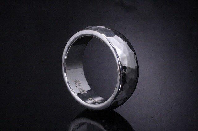 指輪 メンズ : 甲丸丸鎚目リング 12~27号の画像1枚目