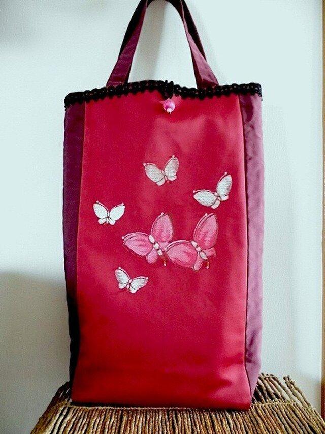 蝶々柄名古屋帯・和楽器収納トートバッグ・S様特注品の画像1枚目