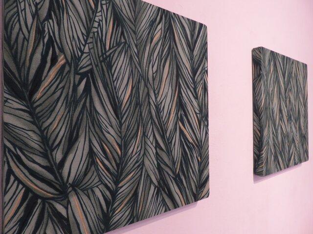 Hawiian Fabric panel  有名ブランドアロハシャツの生地を使ったファブリックパネルの画像1枚目