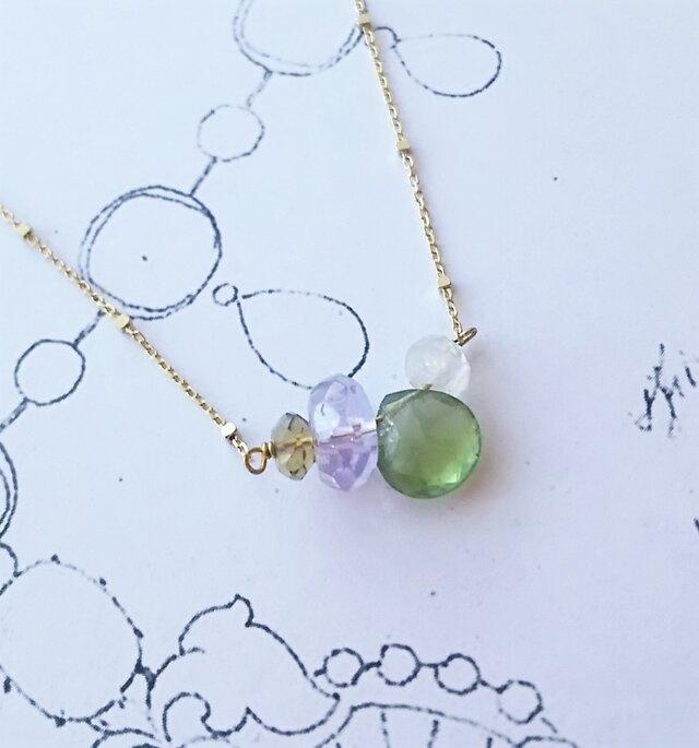 K10天然石の彩りネックレス  [ 瑞 ]の画像1枚目