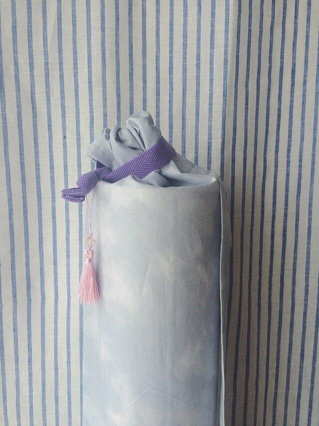 ダイダイ柄のヨガマットケース  グレー Mサイズの画像1枚目