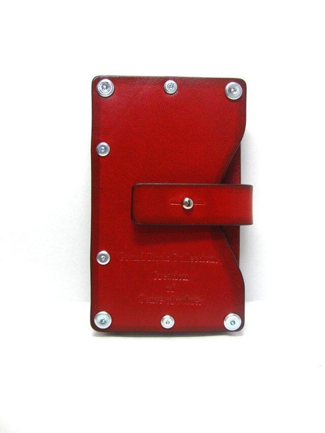 Card case-002-名刺入れ レッドの画像1枚目