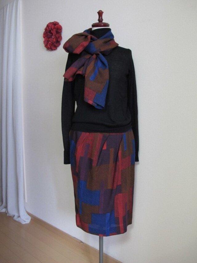 バルーンタイトスカート、ストール付きの画像1枚目