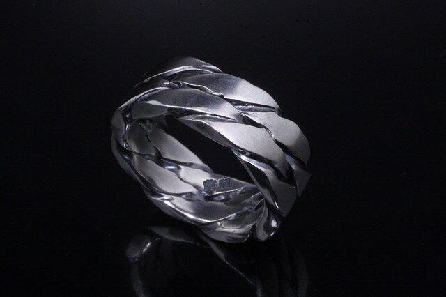 指輪 メンズ : ツイストダブルリング 4~27号の画像1枚目