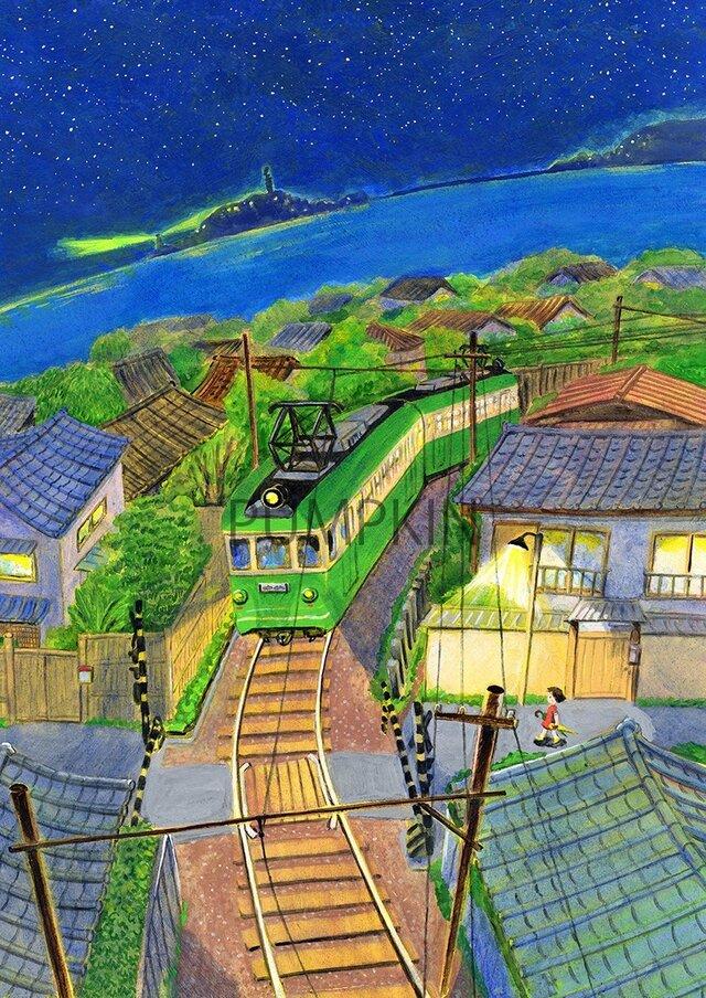 六月の江ノ電  AM-A4-S04      シートのみの画像1枚目