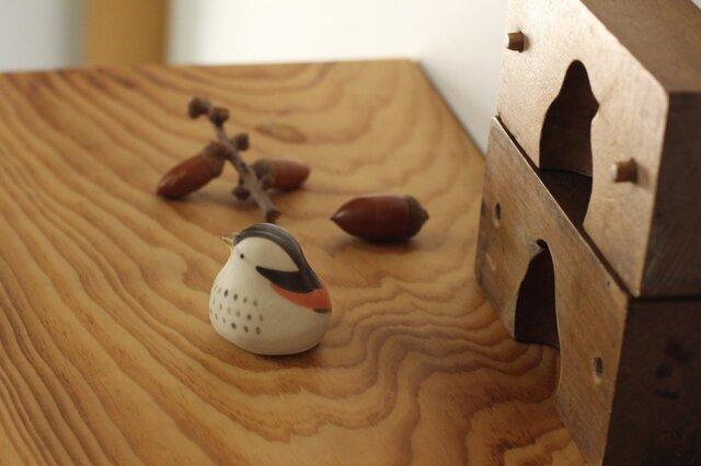 【暦鳥・秋】つぐみ 国産ヒノキの木箱入り※受注制作の画像1枚目