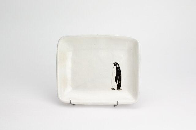粉引四角皿(コウテイペンギン)の画像1枚目