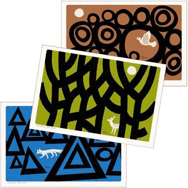 ポストカード|こころ森-Dセット(3枚入)の画像1枚目