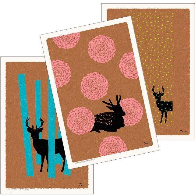 ポストカード|こころ森-Aセット(3枚入)の画像1枚目
