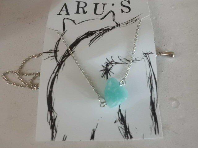 ペルー産アマゾナイトのネックレスの画像1枚目