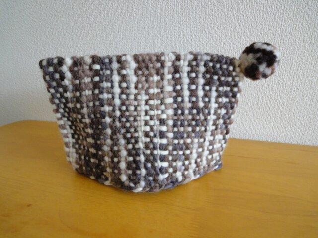 ティーポットカバー 手織り ちゃいろの画像1枚目