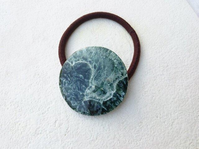 天然石の髪飾り「セラフィナイト」Ⅴの画像1枚目