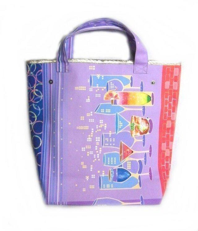 切り絵作家SouMaがデザインしたA4が入るビッグトートバッグの画像1枚目