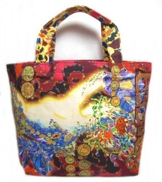 切り絵作家SouMaがデザインしたマーメイドのトートバッグの画像1枚目