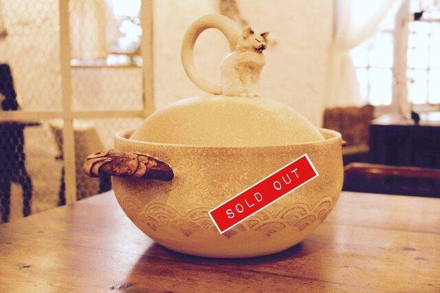 ねこ吐息土鍋の画像1枚目