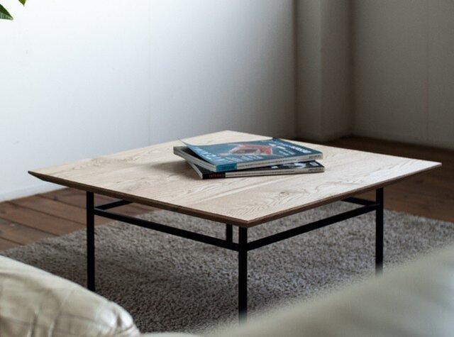 天然オイル仕上「栗の木」コーヒーテーブルの画像1枚目