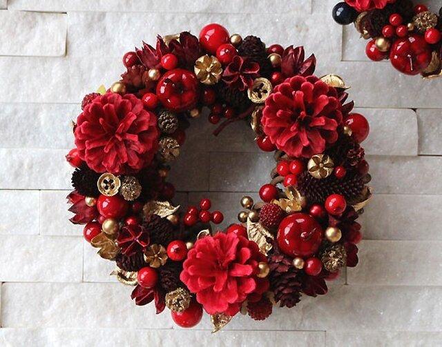 りんご・木の実・レッド・リース (37R19) クリスマスの画像1枚目