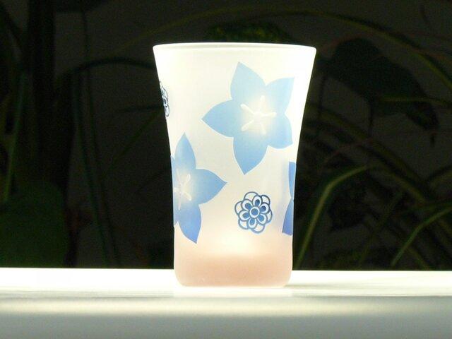 キキョウタンブラー A ピンク×青 (1個)の画像1枚目