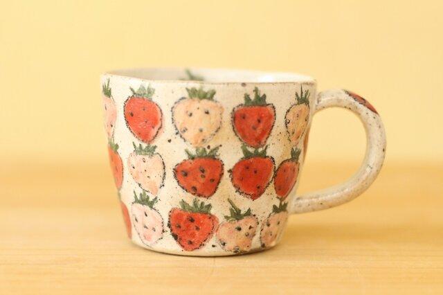※受注生産 ピンクと赤いいちごのカップ。の画像1枚目
