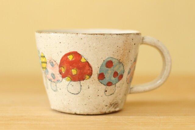 カラフルきのこのカップ。の画像1枚目