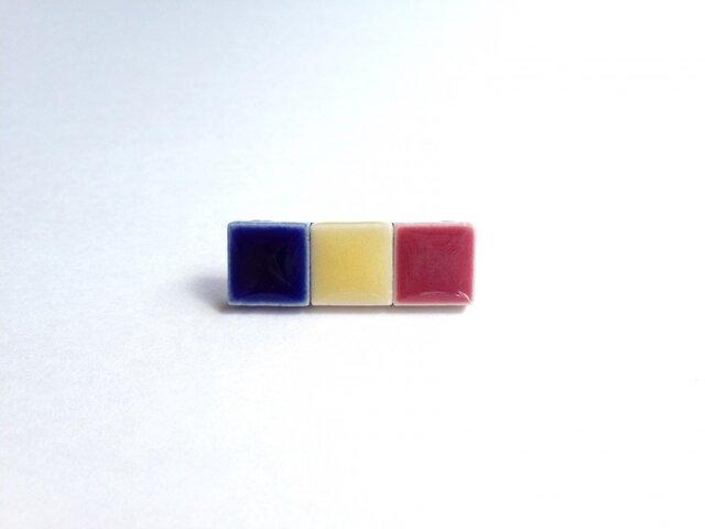 ルーマニア国旗のピンバッジの画像1枚目