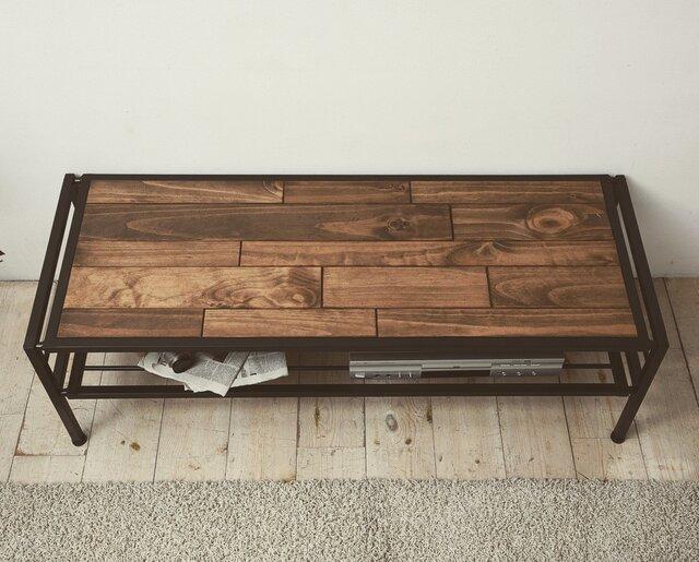 Industrial Pine Wood TV・AV Board 120cm・インダストリアル天然木テレビボードの画像1枚目