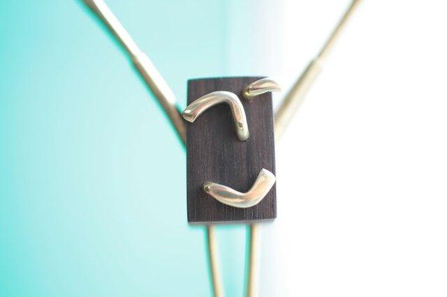 0024「黒檀+真鍮」ひとこと mokujiiの画像1枚目