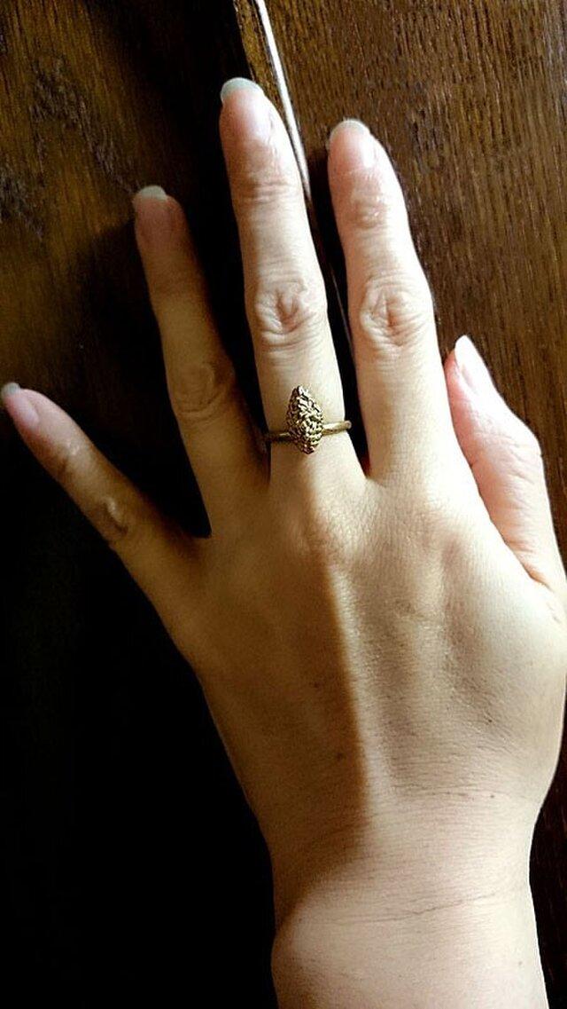 粔籹(おこし)Ring-spindle(真鍮/K18gp)の画像1枚目