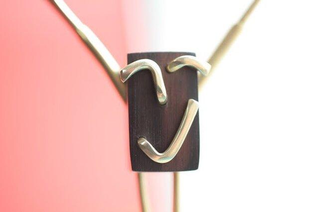 0030「黒檀+真鍮」ひとこと mokujiiの画像1枚目