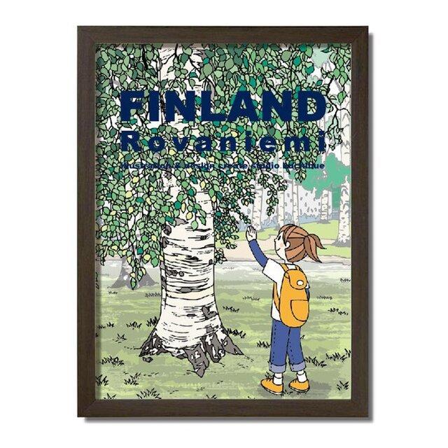 ポスターA3サイズ 白樺の木/(フィンランド・ロバニエミ)の画像1枚目