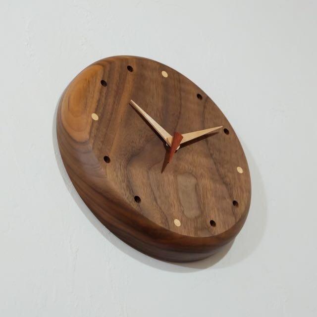 壁掛け時計 (walnut104)の画像1枚目