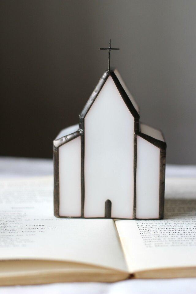 白いガラスの教会 小さいサイズの画像1枚目