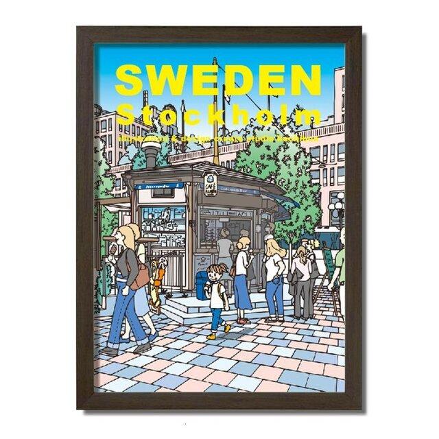 ポスターA3サイズ アイスを買う/(スウェーデン・ストックホルム)の画像1枚目