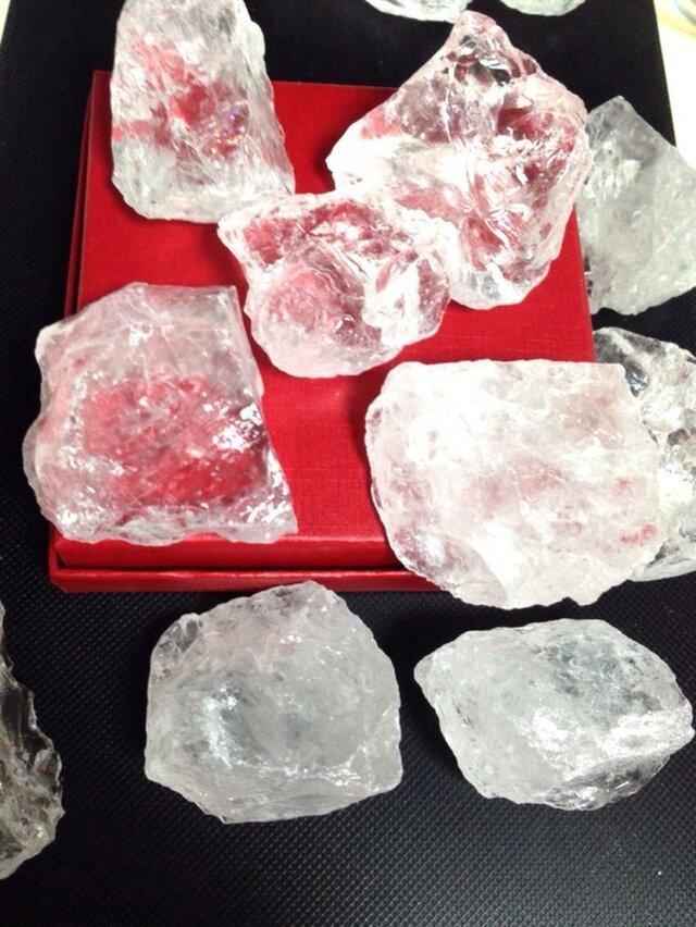 【氷石】マダガスカル産 天然水晶原石 ブロック 約60gの画像1枚目