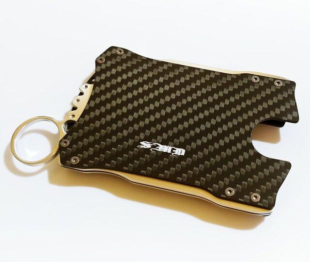 【カードケース&ウォレット】落ち着いたマットカーボン製 / プレゼントにもの画像1枚目
