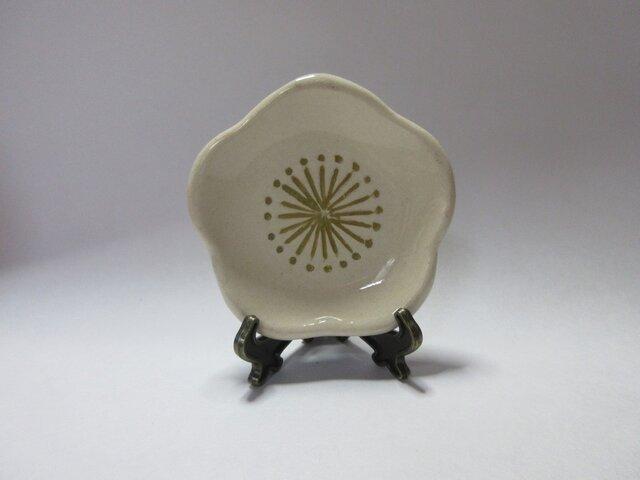 陶 梅 豆皿(白)の画像1枚目