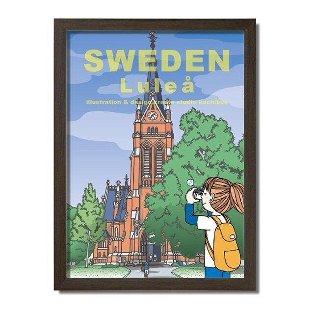 ポスターA3サイズ オレンジの大聖堂/(スウェーデン・ルレオ)の画像1枚目